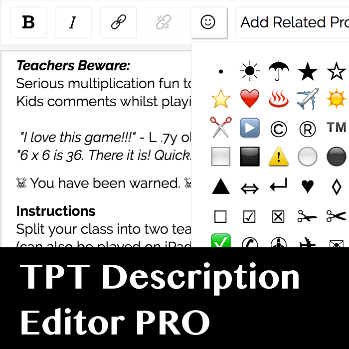 Description Editor Pro